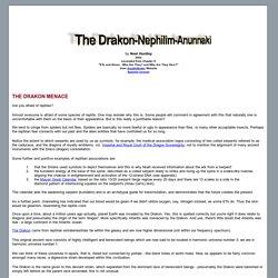 The Drakon-Nephilim-Anunnaki