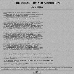THE DREAD TOMATO ADDICTION