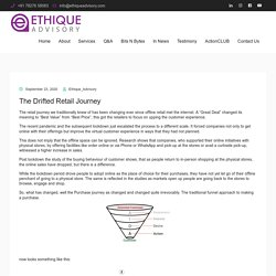 what is drifted retail journey ?