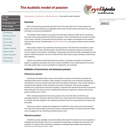 The dualistic model of passion