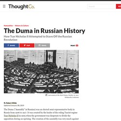 The Duma in Russian History