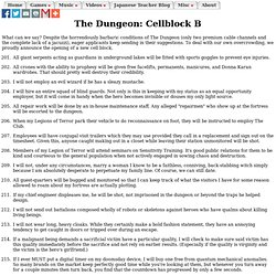 The Dungeon: Cellblock B