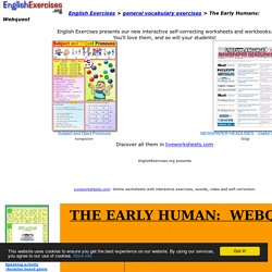 The Early Humans: Webquest