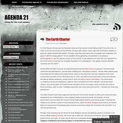 The Earth Charter « agenda 21