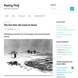 The Sea Eats the Land at Home – Poetry Prof