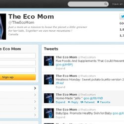 The Eco Mom (TheEcoMom) on Twitter