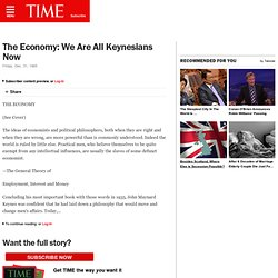 TIME: We Are All Keynesians Now