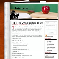 The Top 20 Education Blogs | Intercepts