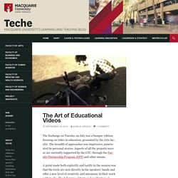 The Art of Educational Videos - teche