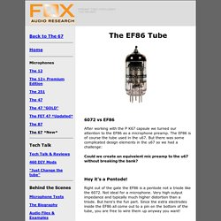 The EF86 Tube
