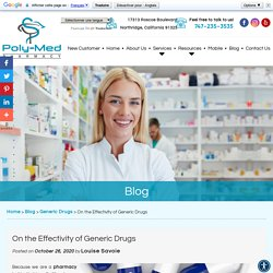 On the Effectivity of Generic Drugs