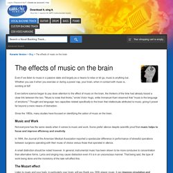 The effects of music on the brain - Blog - Karaoke Version