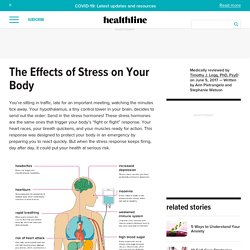 Effects of stress can affect your physical self