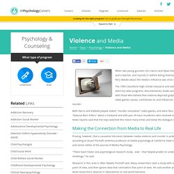 The Effects of Violence in Media