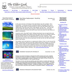 The Elder Geek on Windows XP