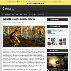 The Elder Scrolls 5 Skyrim - XBOX 360