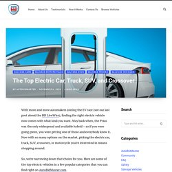 The Top Electric Car, Truck, SUV, and Crossover