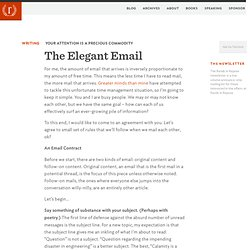 The Elegant Email — www.randsinrepose