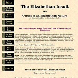 The Elizabethan Insult