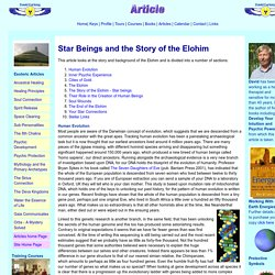 The Elohim and Star Beings