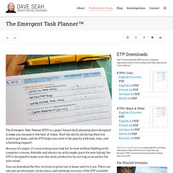The Emergent Task Planner » - Dave Seah