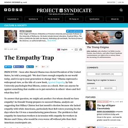 The Empathy Trap by Peter Singer