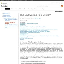 The Encrypting File System