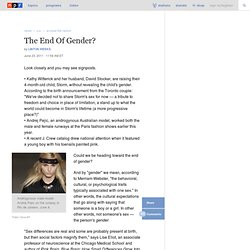 The End Of Gender?