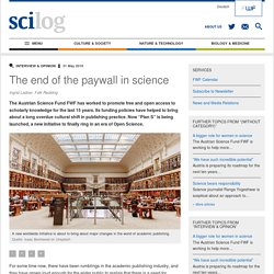 The end of the paywall in science - scilog