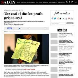 The end of the for-profit prison era?