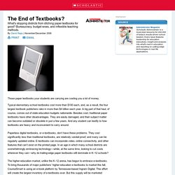 The End of Textbooks?