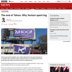 The end of Yahoo: Why Verizon spent big