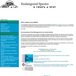 The Endangered Species UPDATE