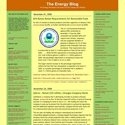 The Energy Blog