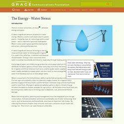 The Energy - Water Nexus