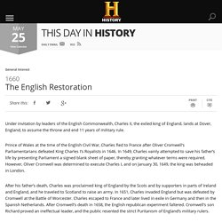 The English Restoration - May 25, 1660