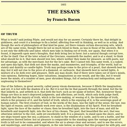 essay of francis bacon of studies 19012018  of studies- by francis bacon- an analysis - free download as word doc (doc), pdf file (pdf) or read online for free brief analysis of the importance of.