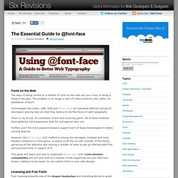 The Essential Guide to @font-face