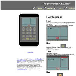 The Estimation Calculator