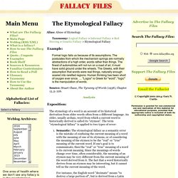 The Etymological Fallacy