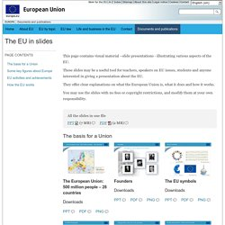 The EU in slides