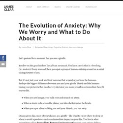 The Evolution of Anxiety: Why We Worry