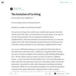 The Evolution of Co-living