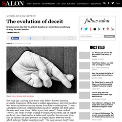 The evolution of deceit