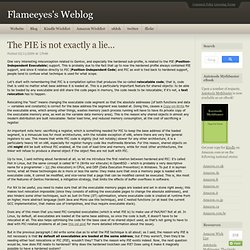 s Weblog : The PIE is not exactly a lie…