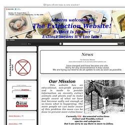 The Extinction Website