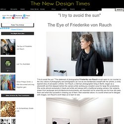 The eye of Friederike von Rauch
