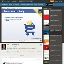 The F-Commerce FAQ