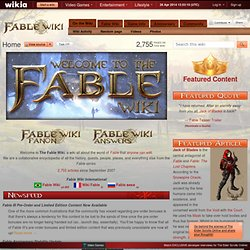 The Fable Wiki - Fable, Fable 2, Fable 3, and more