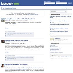 The Facebook Blog